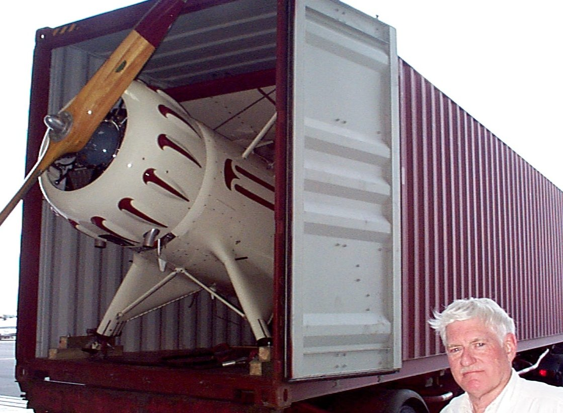 Biplane coming off the truck
