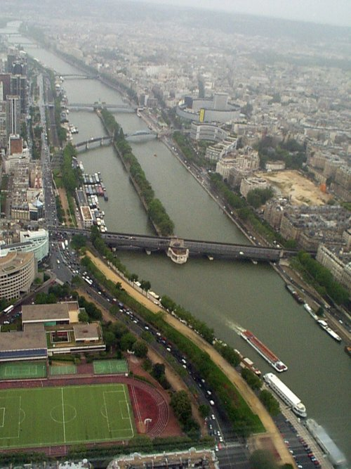 Looking South from the top of the Eiffel Tower