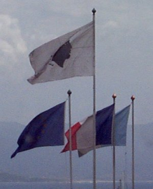 Corsican and French Flags