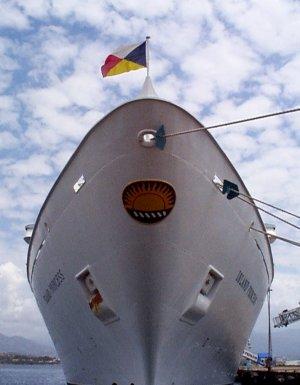 Cruise Ship in Ajaccio, Corsica