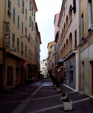 Street in Ajaccio, Corsica