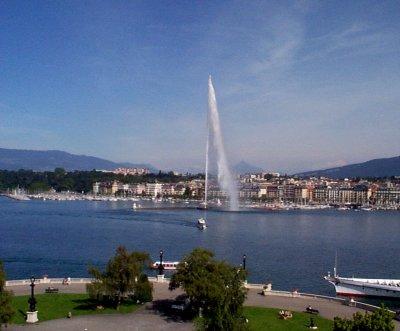 Lake Geneva, from the hotel