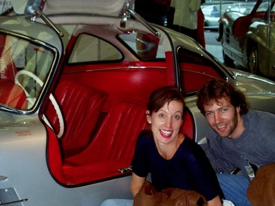 Nici and Mattias with Mercedes 300 SL