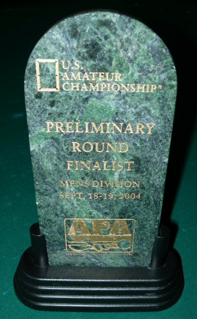 Trophy for US Amateur Championships, Preliminary Round (California)